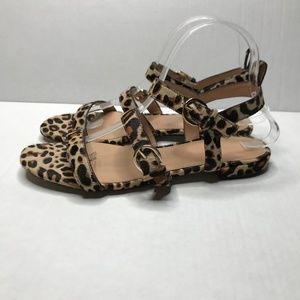 J. Crew Collection Leopard Gladiator Sandals
